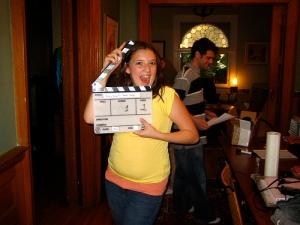 Marlee on set