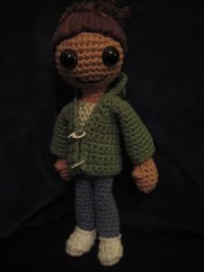 crocheted Ruby Skye P.I. doll by Micah Reid
