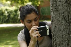 Ruby Skye P.I. shoots with Polaroid Pogo