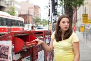 Hailey at Mailbox